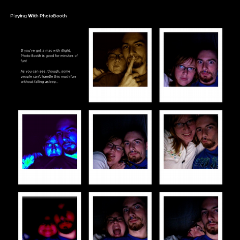 Tabblo: Playing With PhotoBooth